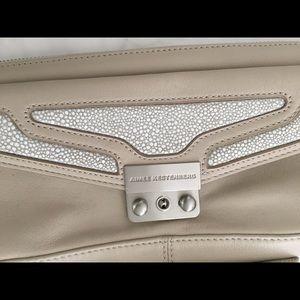 Aimee Kestenberg Vintage Taupe Leather Clutch